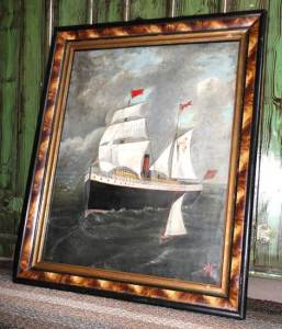 The painting of the S. S. St. Pierre