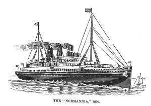 The Normania, the ship the rescued the St. Pierre's crew