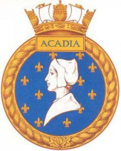 HMCS Acadia Ship's Badge